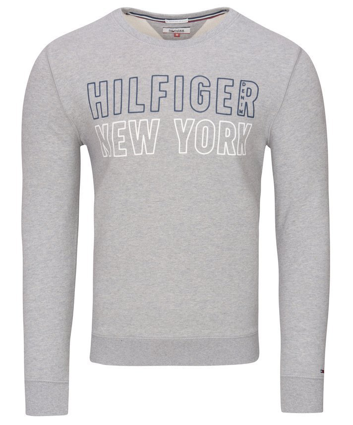 BLUZA MĘSKA TOMMY HILFIGER  DENIM GREY