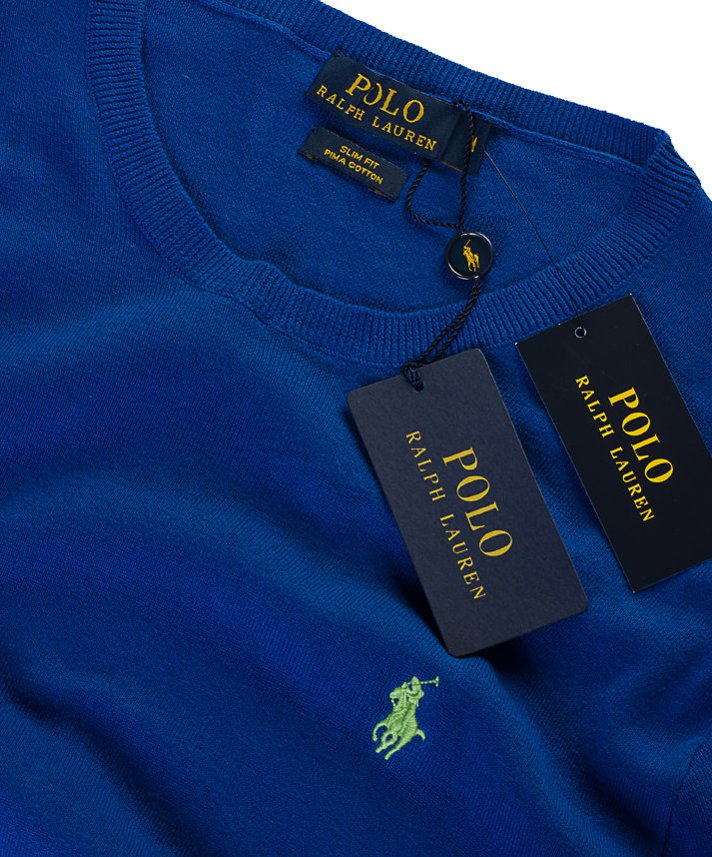 Sweter męski C-neck  Ralph Lauren BLUE SATURN