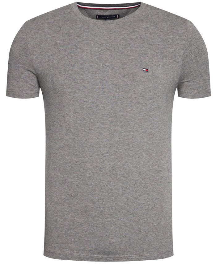 T-SHIRT KOSZULKA TOMMY HILFIGER COTTON GRAPHITE